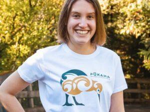 Kiwi Tshirt Closeup Pukaha Online Shop L
