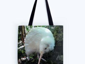 white kiwi tote bag